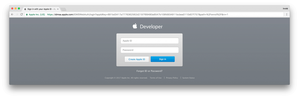 tutoriel apple developer connect
