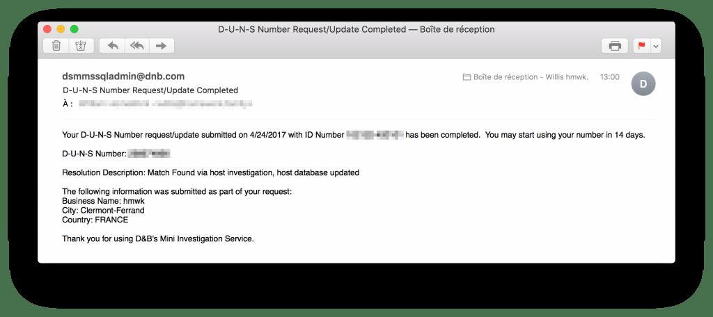 tutoriel apple developer company get duns number email submit
