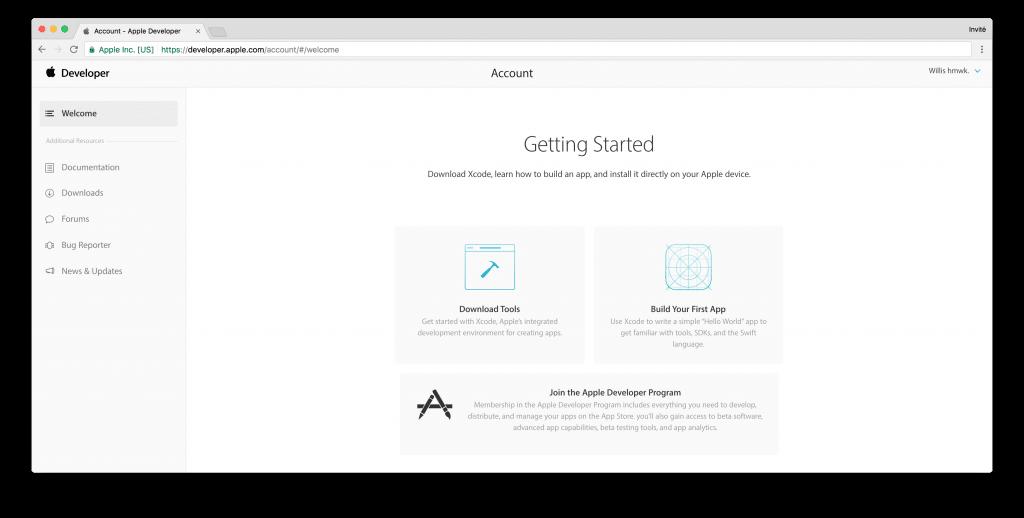 tutoriel apple developer account