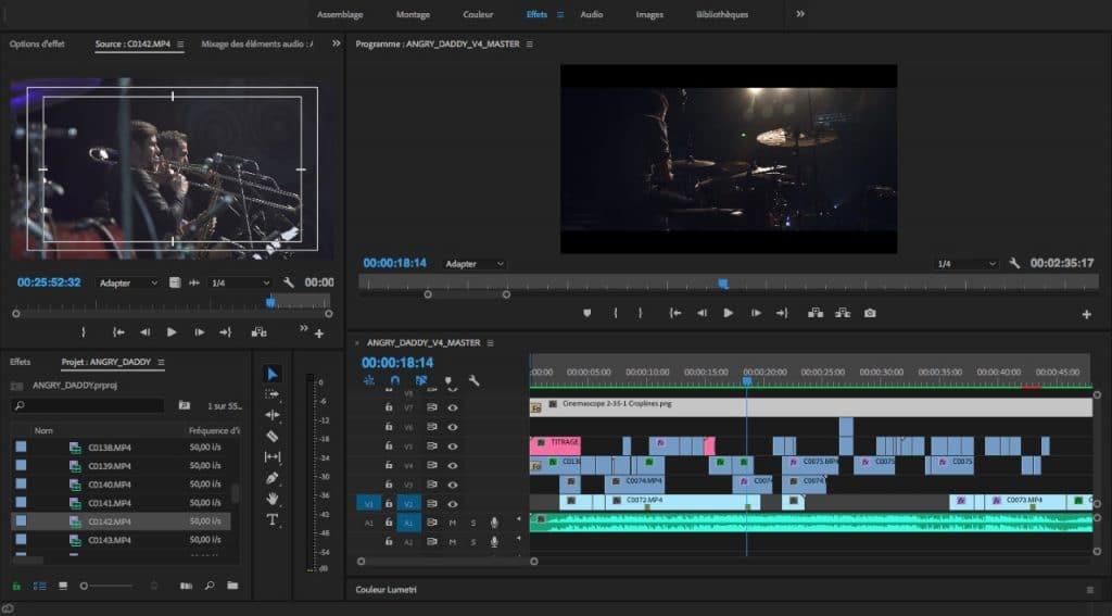 montage premiere pro screen