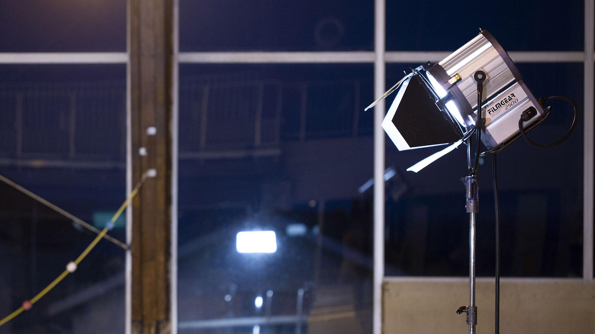 éclairages de tournage : lampe HMI