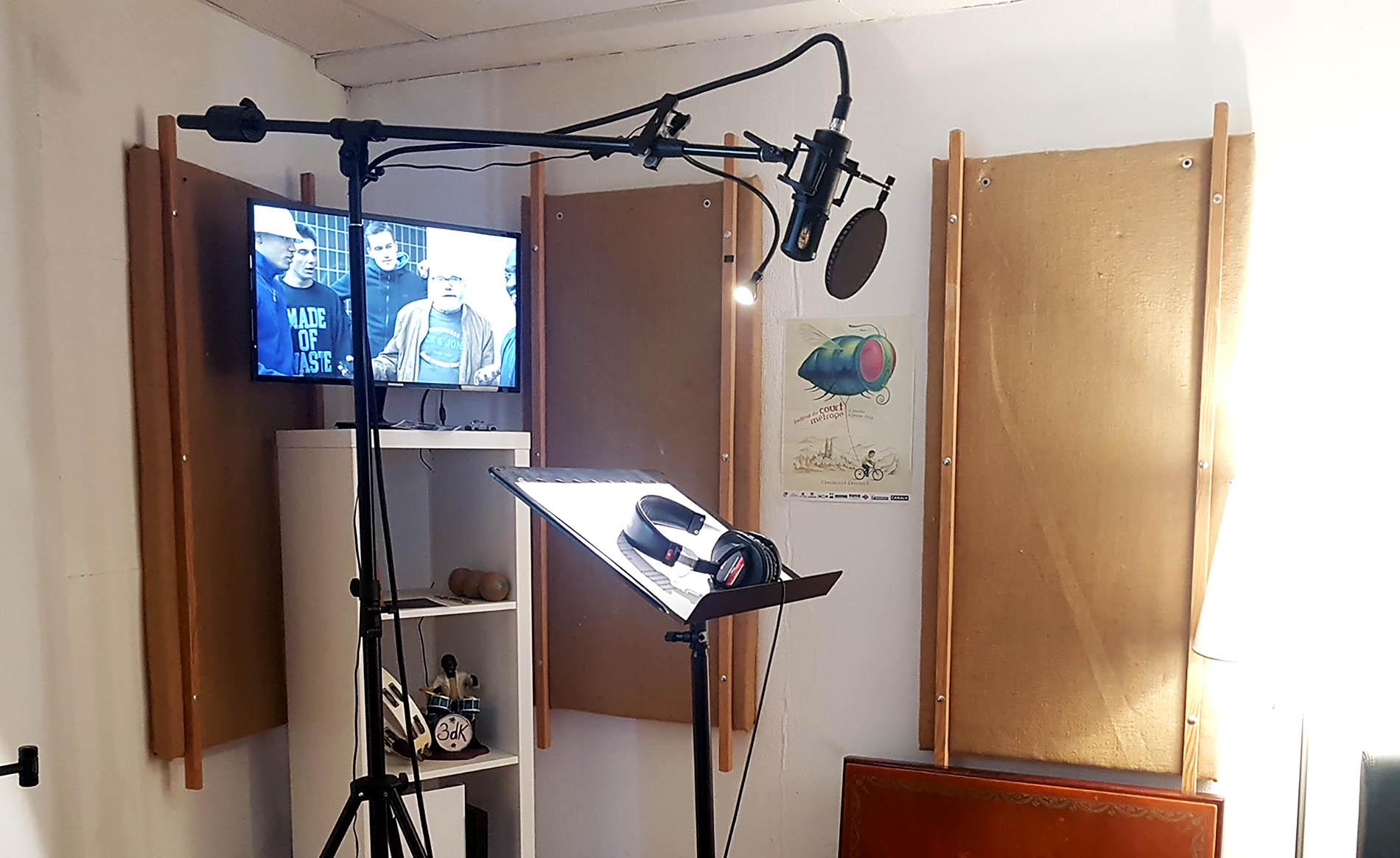 cabine d'enregistrement pour voix off