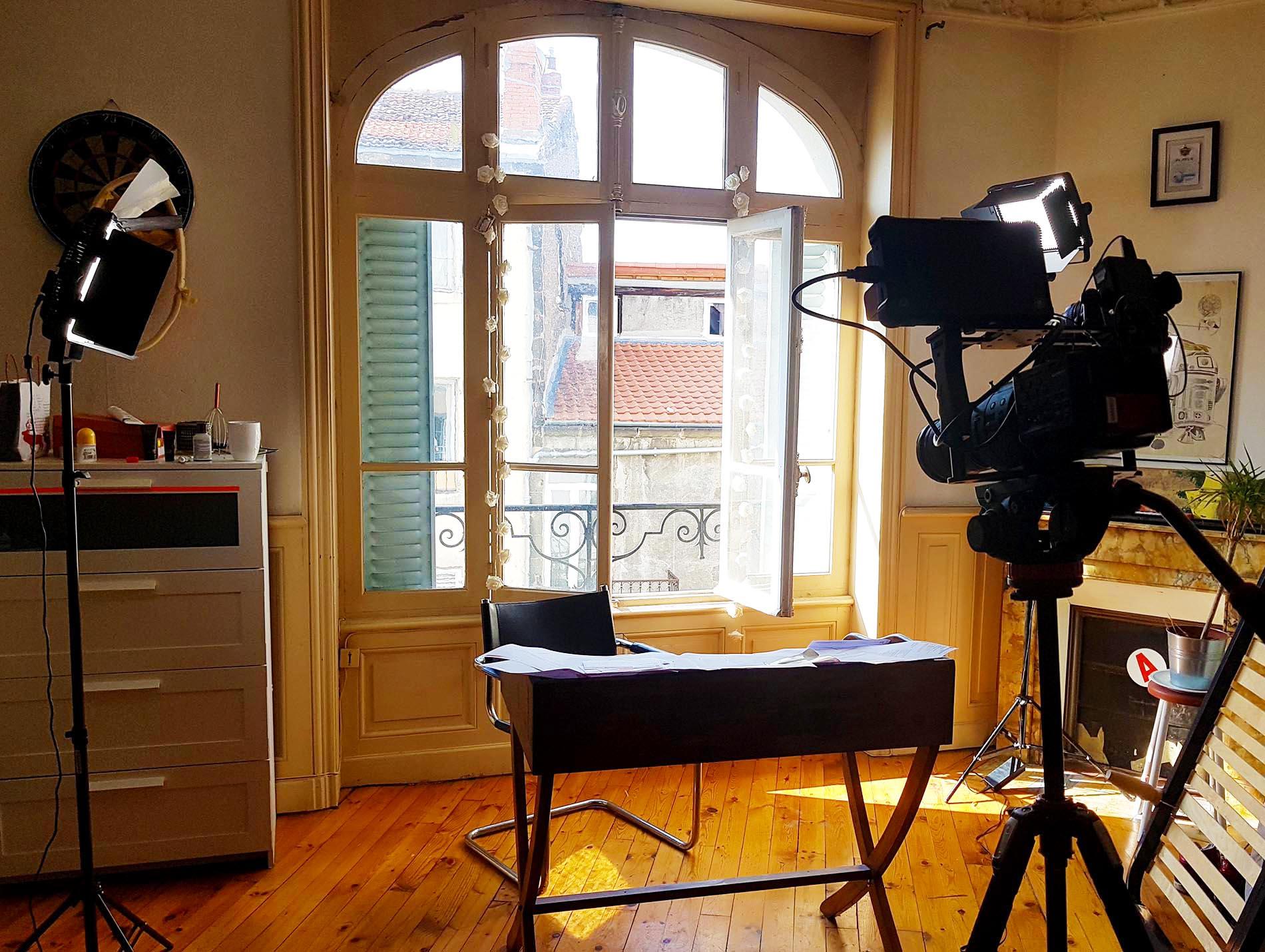 set-up tournage vidéo verticale et horizontale