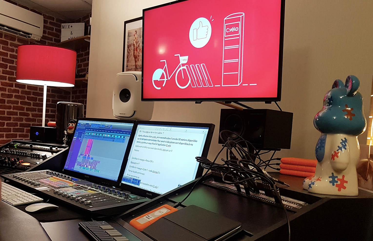 studio d'nregistrement pour enregistrer une voix off